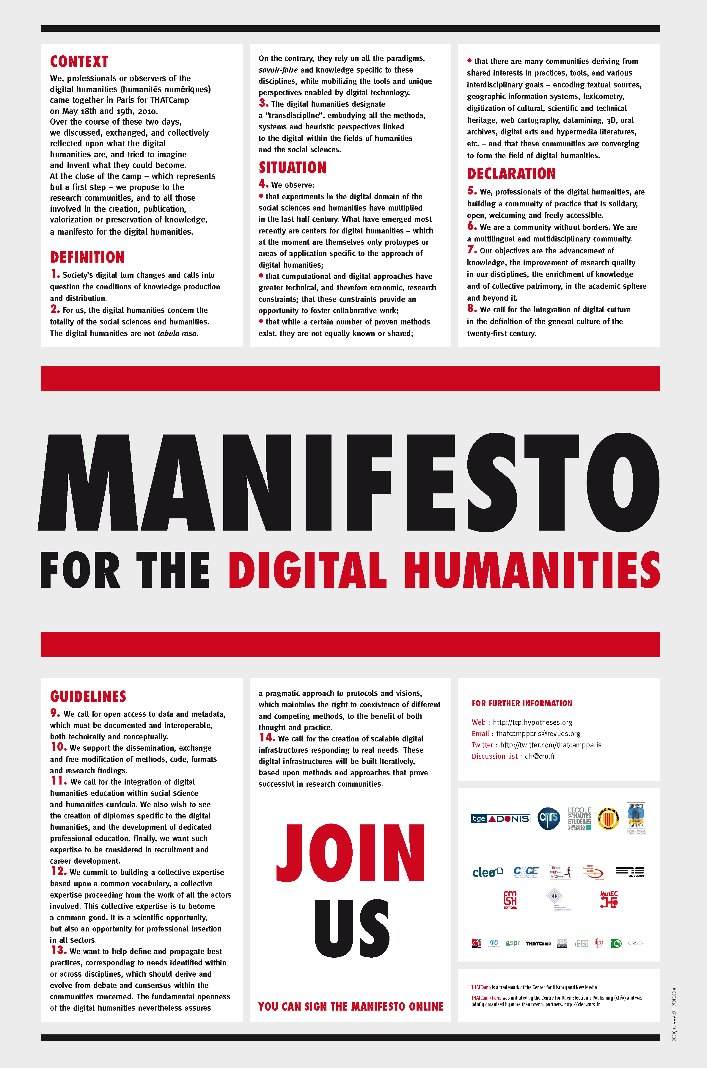manifesto for the digital humanities – open electronic publishing
